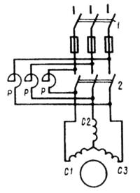 Реакторный способ пуска асинхронных двигателей