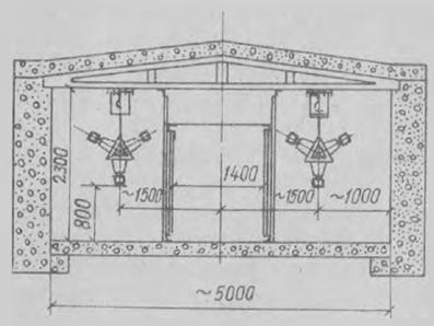 Прокладка жесткого симметричного токопровода 6-10 кВ в тоннеле